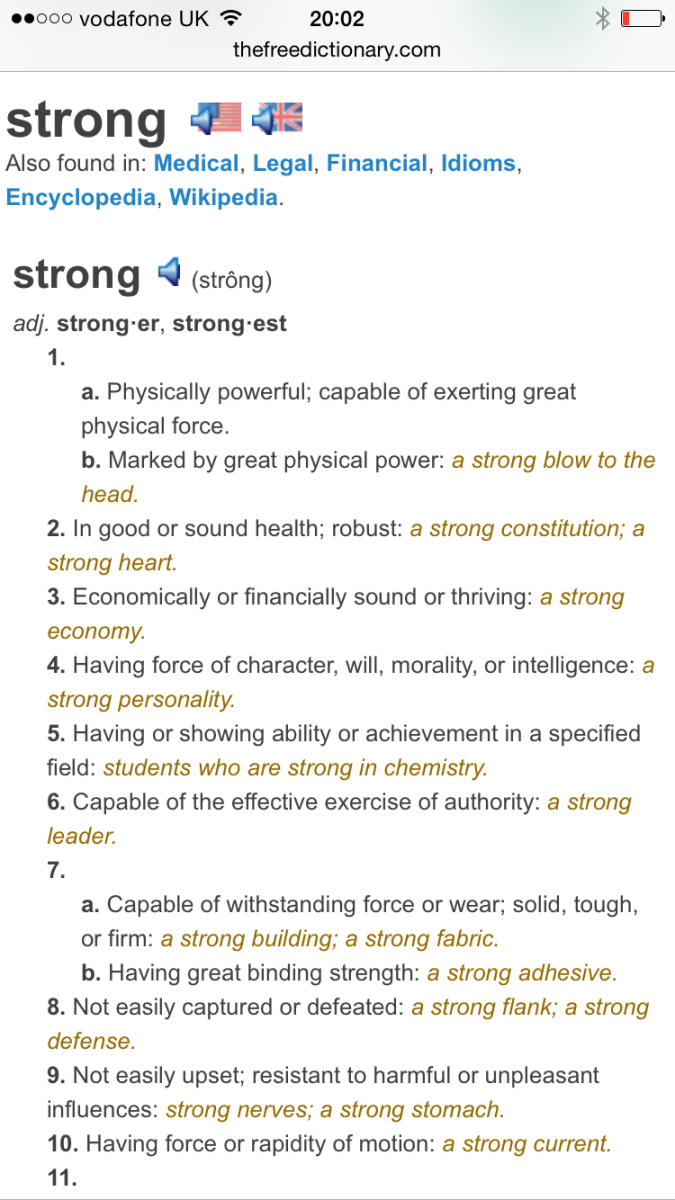 Define strong.